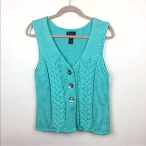 Pure Handknit Sleeveless Cardigan Sweater
